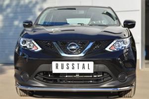 Nissan Qashqai 2014- Защита переднего бампера d42 (секции) NQQZ-001785